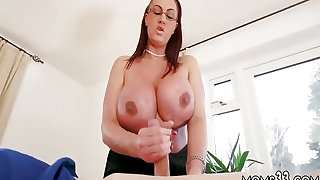 Mom gives lespatron' compeer Big Tit Step-Mom Gets a
